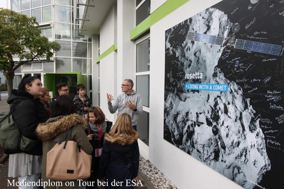 Mediendiplom on Tour bei der ESA